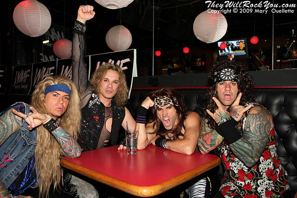 TWRY hangs with Steel Panther in Boston